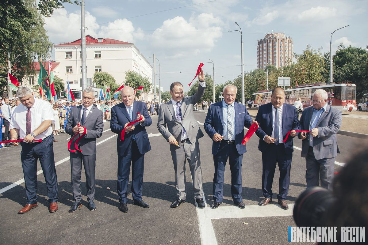В Витебске открыли движение по улице Гагарина после реконструкции