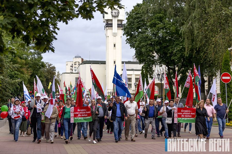 Толочинцы приняли участие в акции «Беларусь — это мы!» в Витебске