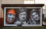 Граффити знаменитой троицы в Витебске исчезло из-за назревшего ремонта подстанции