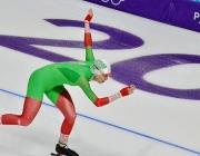 Белорусская конькобежка Марина Зуева дисквалифицирована на дистанции 1500 м