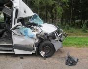 Маршрутка врезалась в грузовик под Лепелем. Пострадал пассажир