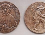 Латвийский художник передал в дар витебскому музею памятные медали, посвященные Франциску Скорине