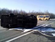 Школьный автобус столкнулся с маршруткой в Бешенковичском районе, 9 человек доставлены в больницу