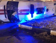 В центре Витебска легковушка столкнулась с машиной скорой помощи