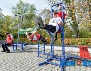 В Полоцке установили несколько уличных спортплощадок