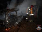 В Орше в частном гараже сгорел автомобиль