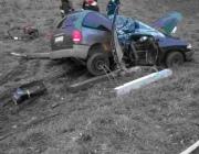 Под Лепелем молодой водитель врезался в фонарный столб