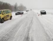 Из-за непогоды за сутки в Витебской области произошло несколько ДТП