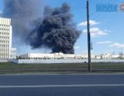 Пожар на территории ОАО «Витязь» (ФОТО, ВИДЕО)