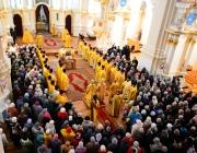 Митрополит Павел провел праздничную литургию в Софийском соборе в честь 1025-летия Полоцкой епархии