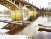 Аномальное тепло привело к зимнему паводку на Западной Двине в Витебске (+ФОТО)