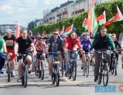Велосезон в Орше открыли зрелищным флешмобом