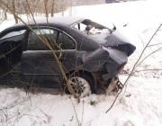 На трассе в Витебской области столкнулись две легковушки, есть пострадавший