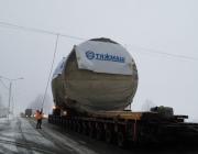 Автопоезд с оборудованием для БелАЭС проследовал через Витебскую область