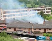 Склад бывшей мебельной фабрики горел в Витебске