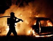 В Витебске горел автомобиль