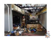Торговые павильоны горели на рынке в Орше