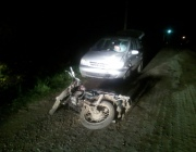 В Витебском районе разбился 20-летний мотоциклист