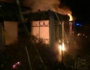 В Докшицком районе огонь уничтожил жилой дом