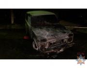 В Глубокском районе горел гараж с техникой