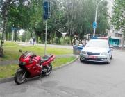 В Витебске сотрудники ГАИ задержали пьяного мотоциклиста