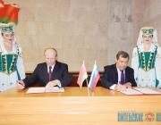 Дубровенский район подписал соглашение о сотрудничестве с Краснинским Смоленской области