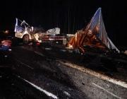 В Оршанском районе легковушка столкнулась с двумя грузовиками