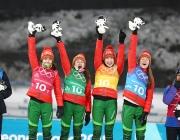 Руководство области направило поздравление белорусским биатлонисткам, взявшим «золото» на Олимпиаде-2018