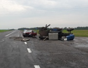 В Полоцком районе трактор опрокинулся после столкновения с легковушкой