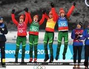 Биатлонистки принесли Беларуси второе золото Олимпийских игр в Пхёнчхане