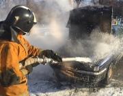 В Новополоцке за час сгорели экскаватор и легковушка