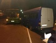 В Новополоцке микроавтобус вылетел на встречку и столкнулся с рейсовым автобусом с 10 пассажирами