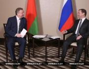 Кобяков и Медведев обсуждают в Алматы перспективы белорусско-российского сотрудничества