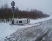 В Полоцком районе перевернулась маршрутка с 15 пассажирами