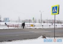 Экспериментальный пешеходный переход установили в Витебске