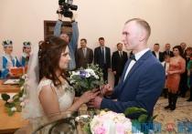 Первый брак зарегистрировали в новом зале загса Железнодорожного района Витебска