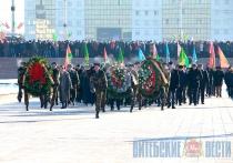 Митинг по случаю Дня защитников Отечества прошел в Витебске (+ФОТО)