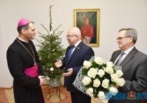 Председатель облсовета депутатов Владимир Терентьев поздравил католиков области с Рождеством