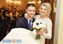 В Витебске зарегистрировали сотую пару молодоженов 2017 года